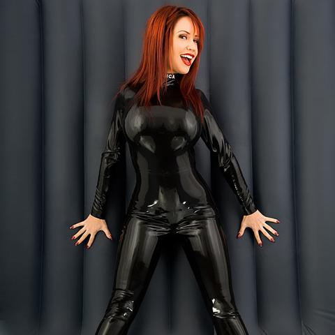 Breasts Catsuit Female Latex Ancensored 1